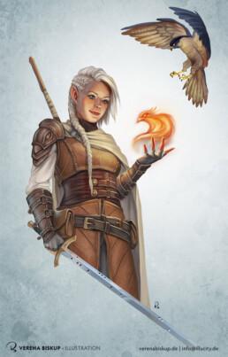 Cirilia - Halvelfen Sorcerer